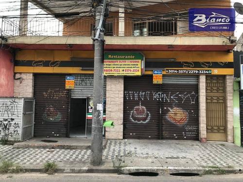 Salão Para Alugar, 150 M² Por R$ 3.700,00/mês - Jardim Cocaia - Guarulhos/sp - Sl0137