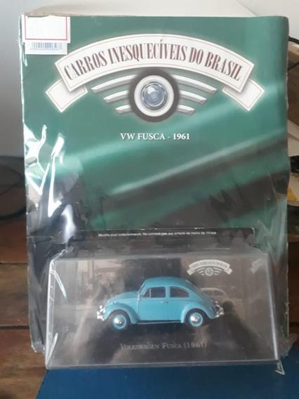 Miniatura Carros Inesquecíveis - Fusca 1961 - Escala 1/43
