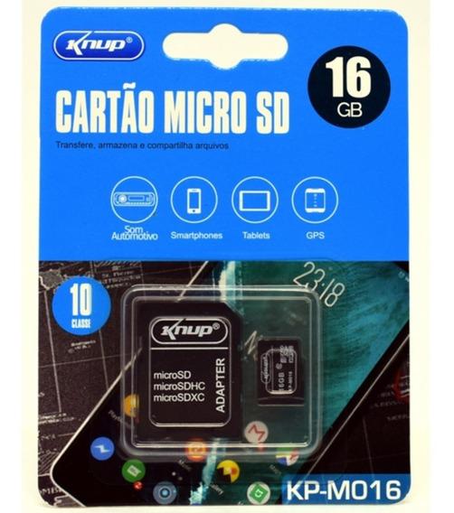Cartão De Memória 16gb Micro Sd Com Adaptador Sd, Sdhc, Sdxc
