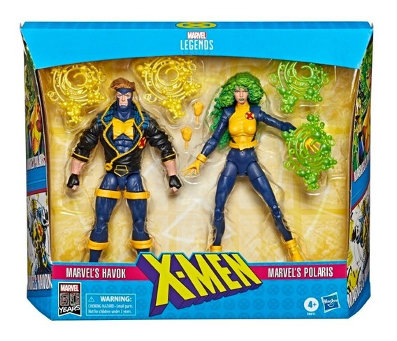 Muñecos Marvel X-men Hasbro E8613 Havok Polaris 15 Cm