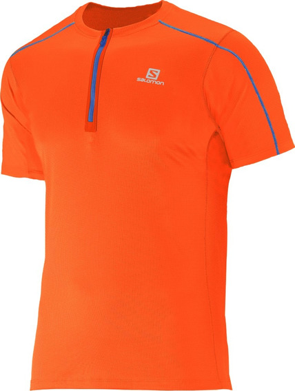 Remera Salomon - Action 1/2 Zip Tee M - Hombre