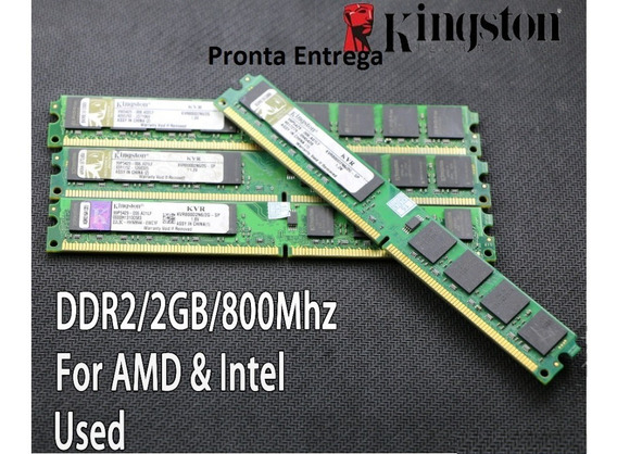 Memoria Kingston 2 Gb Ddr2 Dimm Pc2-6400 800 Mhz 1 Pente