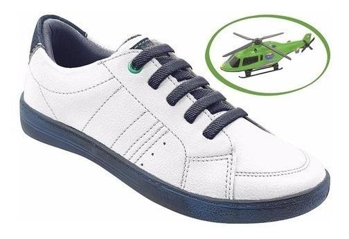 Sapato Infantil Menino Masculino+brinde Helicóptero