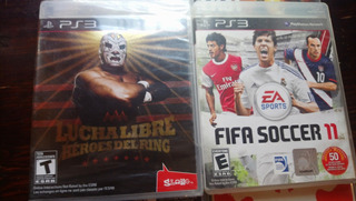 Pack Juegos Ps3. Fifa Soccer 11 Y Aaa Lucha Libre