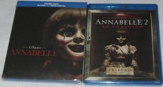 Annabelle 1 Y 2. Lote De 2 Peliculas En Blu-ray