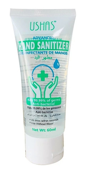 Gel Antibacterial Ushas (12 Piezas) 60 Ml
