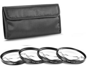 77mm Kit 4 Filtros Close-up (+1 +2 +4 +10) Canon E Nikon