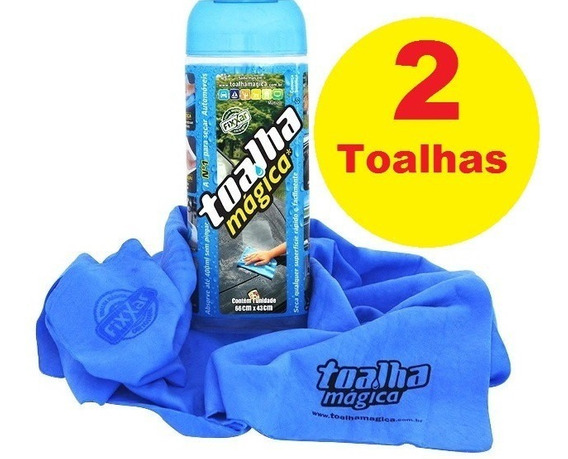 Kit 2| Toalhas Magica | Fixxar 66x43cm Multi Uso Lavar Carro