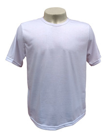 10 Camiseta Lisa Blusa Poliéster Sublimação Brindes Atacado