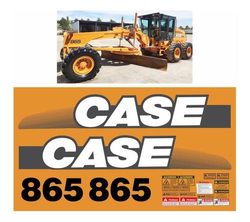 Kit Adesivo Motoniveladora Case 865 Completo + Etiquetas Mk