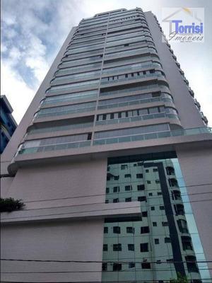 Apartamento Em Praia Grande, Vista Para O Mar, 03 Dormitórios Sendo 01 Suítes,02 Vagas No Forte Ap1819 - Ap1819