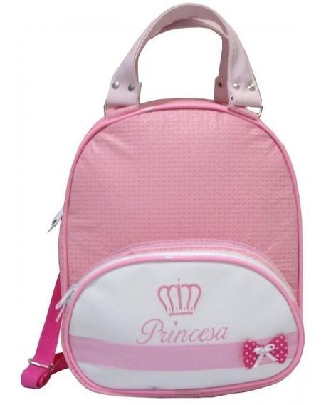 Mochila Princesa Feminino Para Bebe Cor Rosa Tam G Promoção