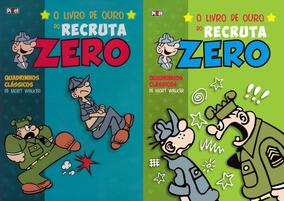 Hq Encadernada Livro De Ouro Do Recruta Zero Lote C/ 2 Vols.