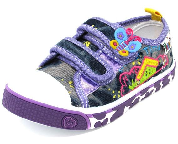 Zapatos Niñas Marca Yoyo L2003 Azul 25-30. Envío Gratis