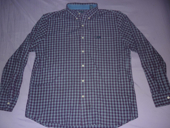 L Camisa Chaps Ralph Lauren Cuadros Violeta Talle L Art 5167