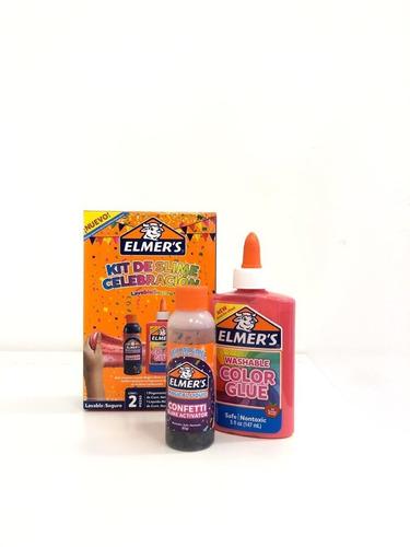 Imagen 1 de 3 de Super Kit Slime Elmer's Celebracion Lavable No Toxico