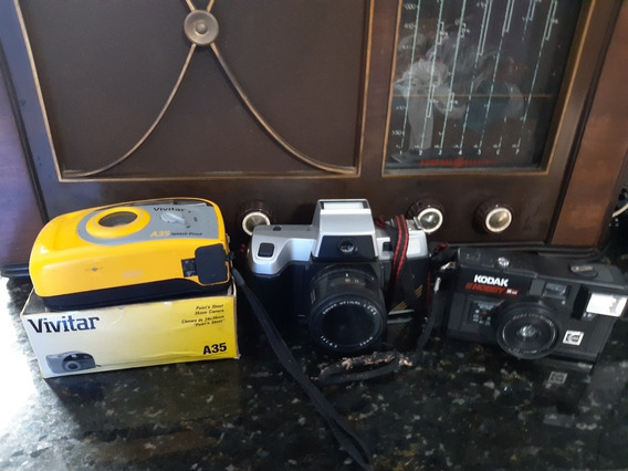 Máquina Fotográfica 35mm Vivitar Kodak 3 Máquinas