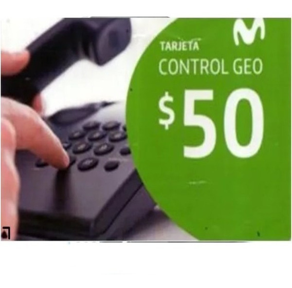 Tarjeta Movistar Geo Control Pin $ 50 - Stock 24 Hs.