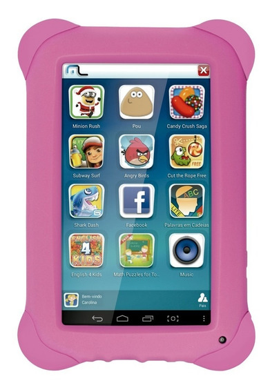 Tablet Infantil Kid Pad 7, 8gb, Quadcore, Rosa - Envio Já