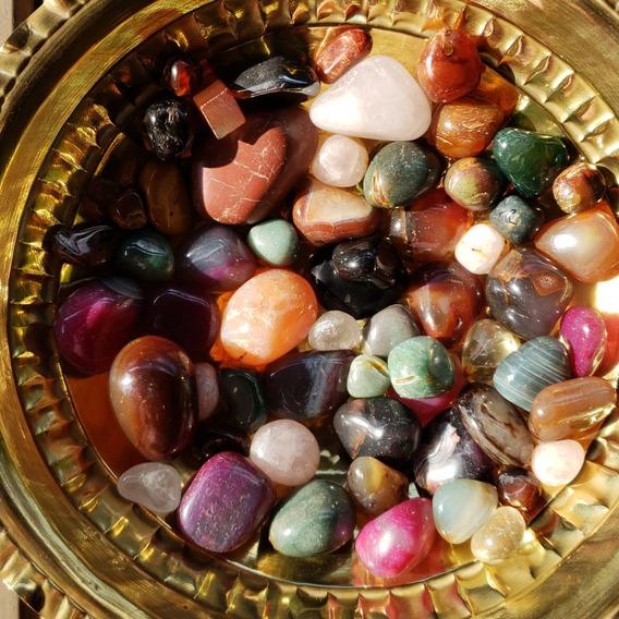 Monte Seu Kit De Pedras Polidas Naturais Lote Min 7 Pçs