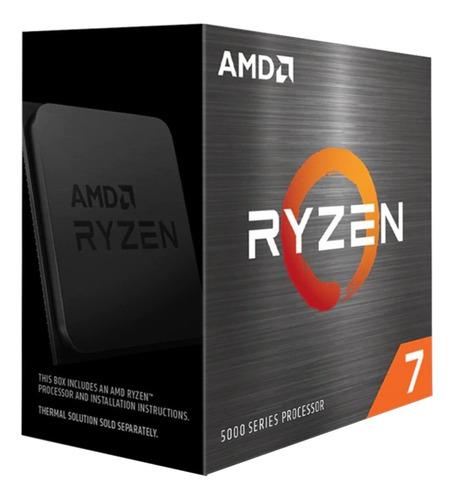 Imagen 1 de 2 de Procesador gamer AMD Ryzen 7 5800X 100-100000063WOF de 8 núcleos y  4.7GHz de frecuencia