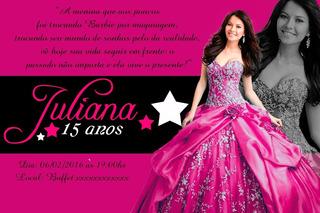 60 Convites Papel Foto 10x15 Para Festas, Aniversarios Etc