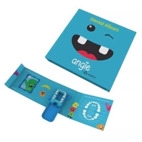 Dental Álbum Azul Estojo Para Guardar Dentes Leite Premium