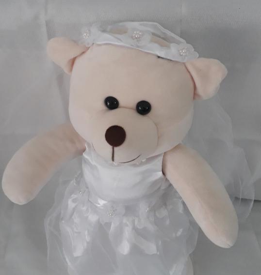 Urso De Pelúcia Ursinha Noiva Noivinha 45cm Sua Fiel Amiga