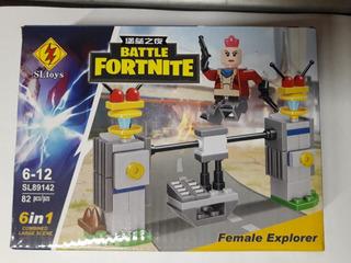 Set Fortnite Battlefigura+accesorios Simil Lego Supertoys