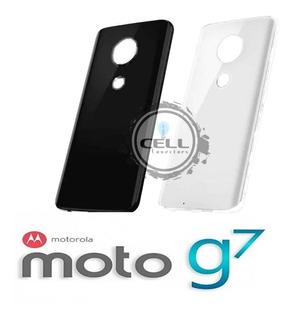 Tampa Traseira Vidro Motorola Moto G7 C/ Adesivo