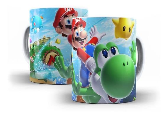 Caneca Super Mário Bros Yoshi Jogo Nintendo