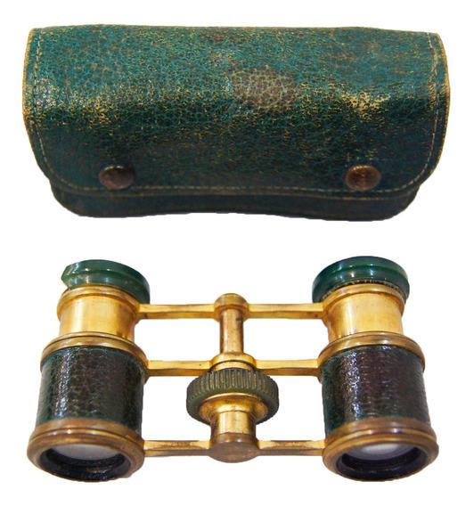 Binóculos Antigo De Teatro Bronze Dourado