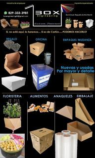 Huacales De Cartón, Cajas Para Canasta Navidad, Cajas Usada