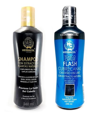 Tonico Y Shampoo Cubre Canas Herbacol