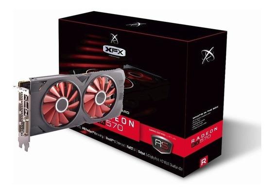 Placa De Vídeo Radeon Xfx Rx 570 8gb Rs Xxx 256bits Dual Fan