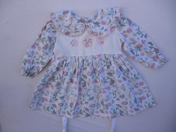 Vestidos De Viyela Estampada Para Niñas En Talles 1- 2 Y 3.