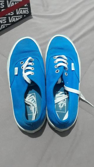 Tenis Vans Authentic Azul Tamanho 35 Usado