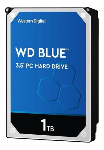 Imagen 1 de 3 de Disco duro interno Western Digital  WD10EZEX 1TB azul