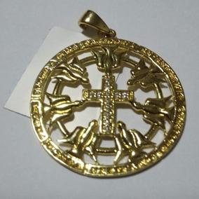 Pingente Mandala Espírito Santo Folheado À Ouro