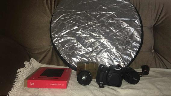 Câmera Cânon T6 Com Lente 18-55mm E 35mm