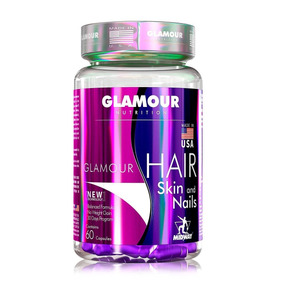 Para Beleza Glamour Hair Skin And Nails 60caps - Midway