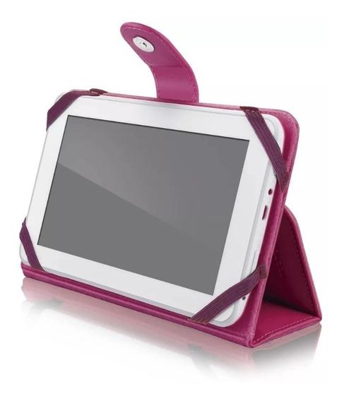 Capa Case Para Tablet Tela 7 Multilaser Universal Rosa