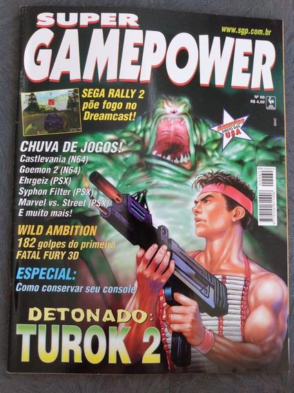 Revista Super Gamepower N 60 Castlevania 64 Detonado Turok 2