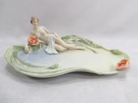Porta Cartão Petisqueira Porcelana Dama Art Nouveau Unicorn