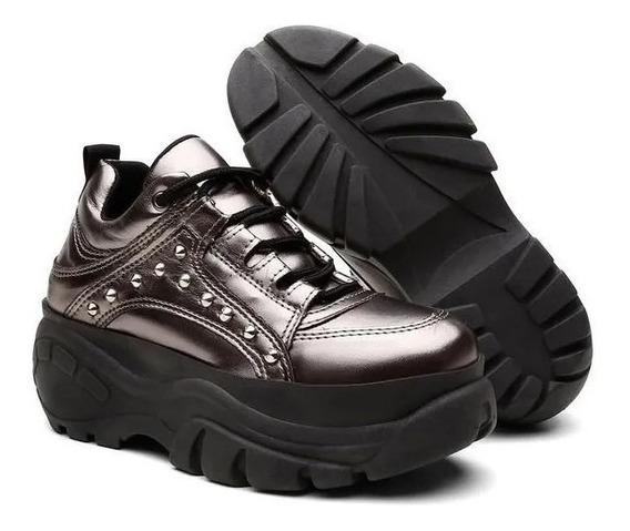Tênis Buffalo Sneaker Spike Feminino Conforto Original