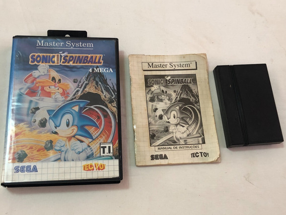 Master System : Sonic Spinball Tectoy Completo Sem Label G