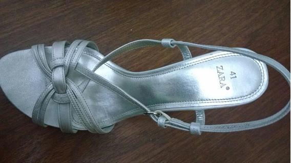 Sandalia Prata Zara N°39