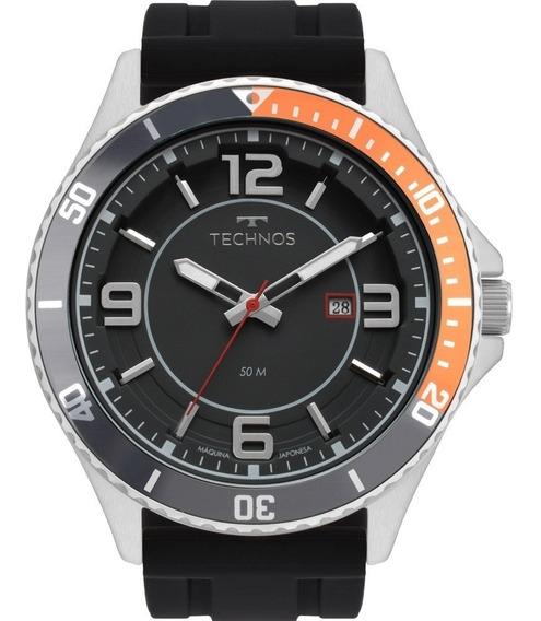 Relógio Technos Racer 2115msj/8p Preto Prata Original