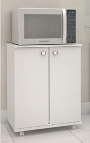 Balcão Multiuso Espaço P/ Microondas De Cozinha Pequeno B033