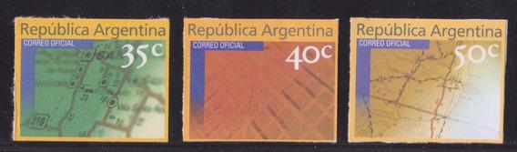 Argentina 1999 Serie Nº 2258a 59b 60a Mailing Mint